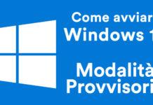 avvio provvisorio di windows